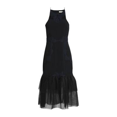 ジョナサン シンカイ JONATHAN SIMKHAI 7分丈ワンピース・ドレス ブラック 4 レーヨン 59% / アセテート 37% / ポリウ