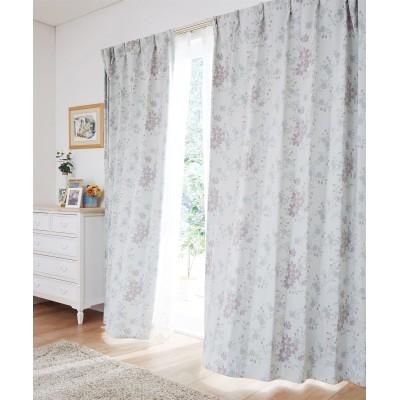 防炎カーテン(フェミニンフラワー) ドレープカーテン(遮光あり・なし) Curtains, blackout curtains, thermal curtains, Drape(ニッセン、nissen)