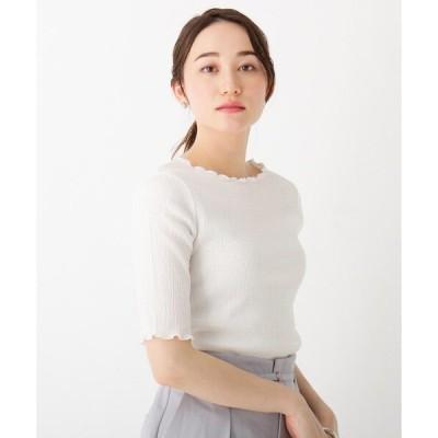 tシャツ Tシャツ シアーワッシャーメローヘムプルオーバー【WEB限定サイズあり】