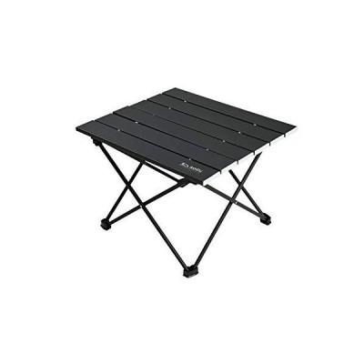 sopii アウトドア ロール テーブル 折りたたみ式 アルミ 収納袋付き コンパクト 軽量 (ブラック)