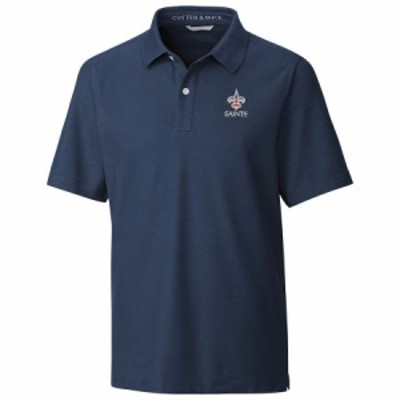 """メンズ ポロシャツ """"New Orleans Saints"""" Cutter & Buck Americana Breakthrough Polo - Navy"""