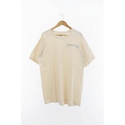 【中古】infinite archives S/S easytabor ロゴ プリント 半袖 Tシャツ L ホワイト アイボリー 中古 200311 0015