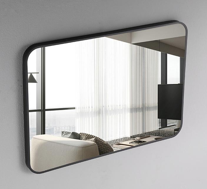 鏡子 裝飾鏡 75*120cm 壁掛鏡 北歐方形玄關裝飾鏡美式浴室鏡歐式衛生間壁掛鏡臥室梳妝鏡化妝鏡