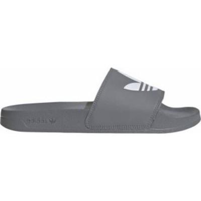 アディダス メンズ サンダル シューズ adidas Men's Adilette Lite Slides Grey/White/Grey