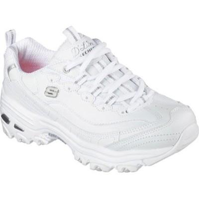 スケッチャーズ Skechers レディース スニーカー シューズ・靴 D'Lites Sneaker Fresh Start/White/Silver