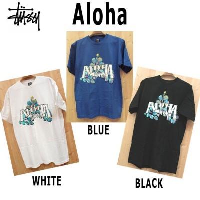 STUSSY/Tシャツ、ALOHA モチーフハワイアンTシャツ
