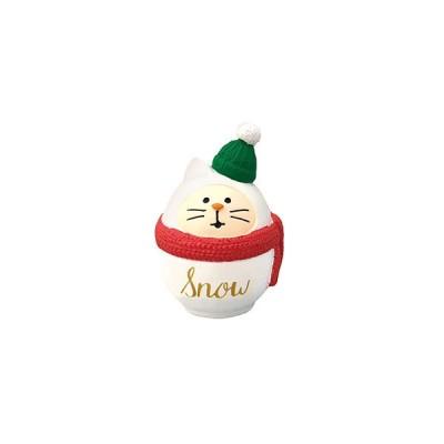 クリスマス ディスプレイ デコレ DECOLE コンコンブル concombre 雪猫だるま ZXS−43059