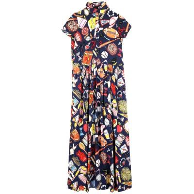 ラブ モスキーノ LOVE MOSCHINO ロングワンピース&ドレス ダークブルー 40 レーヨン 100% ロングワンピース&ドレス