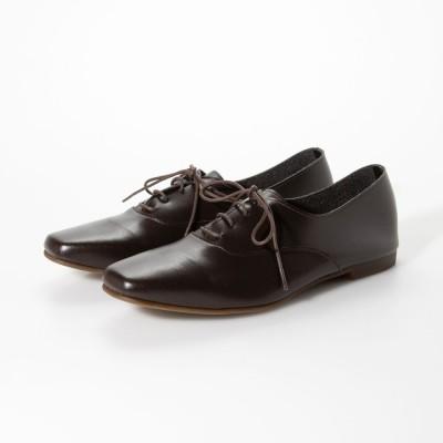 【ネット限定】【レイン対応】靴紐バブーシュ 【晴雨兼用】ダークブラウン