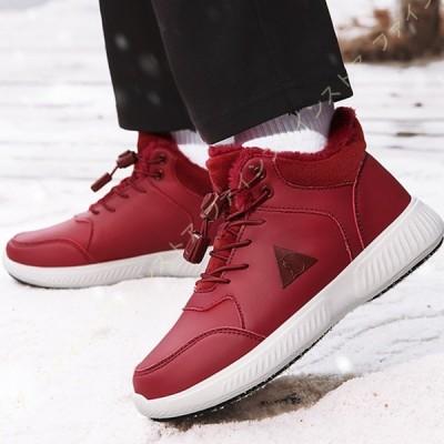 スノーブーツ レディース ブーツ 防寒 冬靴 綿靴 雪靴 ウィンターブーツ レザースニーカー スノーシューズ アウトドアシューズ スノトレ トレッキングブーツ