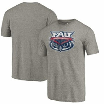 Fanatics Branded ファナティクス ブランド スポーツ用品  Fanatics Branded FAU Owls Gray Classic Primary Tri-Blend T-Shirt