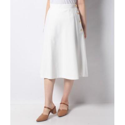 【ルゥデ】 サイドボタンスカート(0R10−067557) レディース ホワイト S Rewde