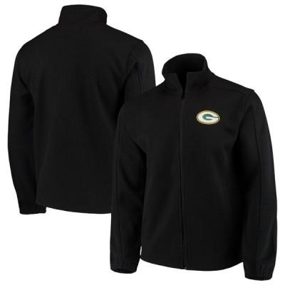 グリーンベイ・パッカーズ G-III Sports by Carl Banks QR Audible Full-Zip Fleece ジャケット - Black