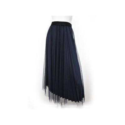 C'EST MOIJEU セモアージュ / チュール&プリーツスカート 重ね使いスカート