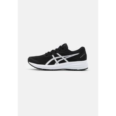 アシックス シューズ レディース ランニング PATRIOT 12 - Neutral running shoes - black/white