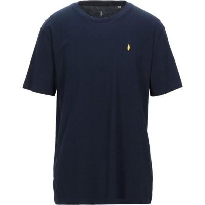 WALTBAY メンズ Tシャツ トップス t-shirt Dark blue