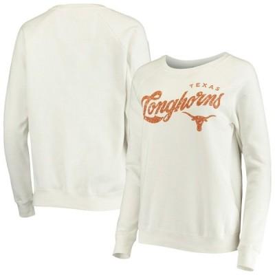 トューエイトナインシーアパレル パーカー・スウェットシャツ アウター レディース Texas Longhorns Women's Penelope Crew Neck Sweatshirt White