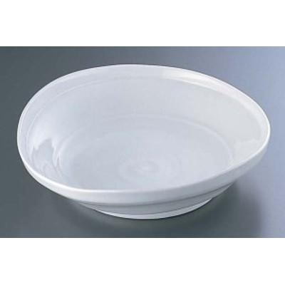 白釉たわみ8.0大皿 深 B03-35    [7-1551-1401 6-1505-1401  ]