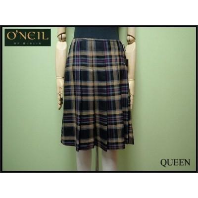 O'NEIL OF DUBLIN プリーツスカート・GB10□アイルランド製 オニールオブダブリン/巻きスカート ラップスカート/ウール/チェック柄¨