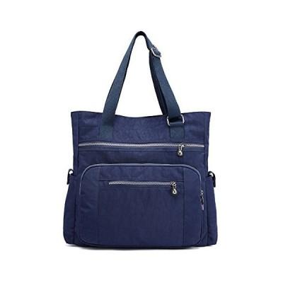 Mfeo Womens Multi Pockets Adjustable Nylon Large Tote Shoulder Work Bag Han