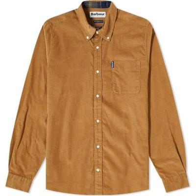 バブアー Barbour メンズ シャツ トップス cord 2 tailored shirt Sandstone