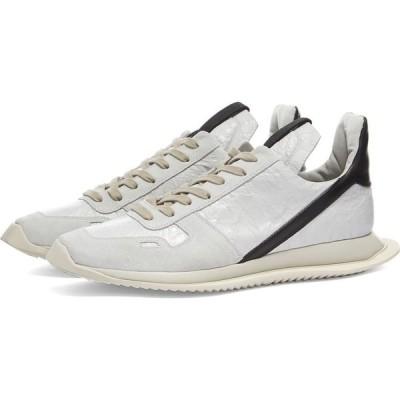 リック オウエンス Rick Owens メンズ スニーカー シューズ・靴 running sneaker White/Black