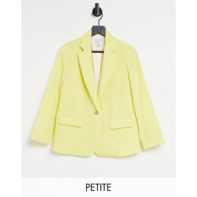 トップショップ Topshop レディース スーツ・ジャケット アウター Petite Clean Crepe Blazer In Lemon レモン