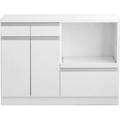 【日本製】シンプルデザインのキッチンカウンター(完成品)