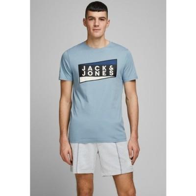ジャック アンド ジョーンズ Tシャツ メンズ トップス JCOSHAUN  - Print T-shirt - light blue