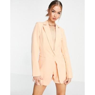 ユニークトゥエンティワン レディース ジャケット・ブルゾン アウター Unique21 tailored single button blazer in peach set