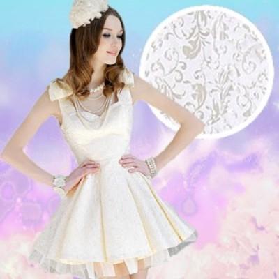 ミニドレス 結婚式 パーティードレス 二次会 ミニ ドレス ワンピース 袖なし ノースリーブ プリンセスドレス 刺繍 キュート