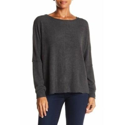 ファッション トップス H By Bordeaux NEW Charcoal Gray Womens Size XL Pullover Boat-Neck Sweater #097