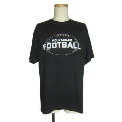 フットボールプリントTシャツ   メンズL 古着