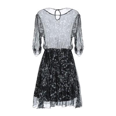 PHILIPP PLEIN ミニワンピース&ドレス ブラック S レーヨン 100% ミニワンピース&ドレス
