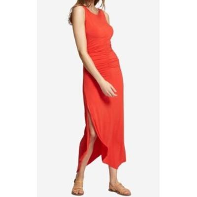 Sanctuary サンクチュアリ ファッション ドレス Sanctuary NEW Orange Womens Size Large L Samba Ruched Maxi Dress