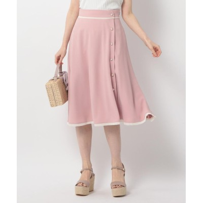 【ミッシュマッシュ】 バイカラーフレアスカート レディース ピンク系 M MISCH MASCH