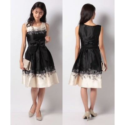 【エイミーパール バイ パウダーシュガー】配色フラワー刺繍ドレス