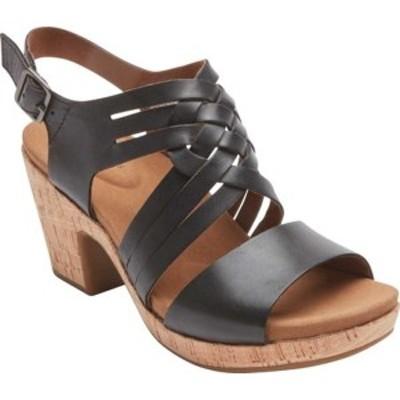 ロックポート レディース サンダル シューズ Vivianne Woven Slingback Sandal Black Leather