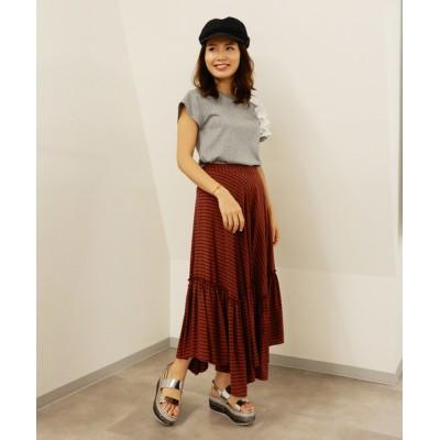 Re.Verofonna / チェックティアードギャザースカート WOMEN スカート > スカート