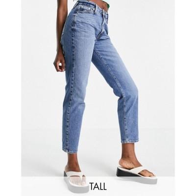 リバーアイランド River Island Tall レディース ジーンズ・デニム ボトムス・パンツ Straight Leg Jeans In Blue ブルー