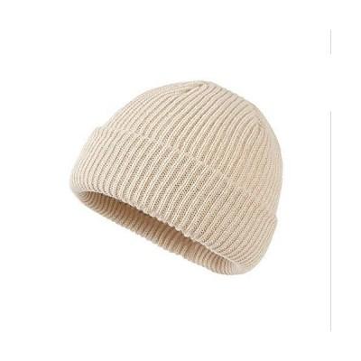 Croogo ニット帽 メンズ 厚い ショートワッチキャップ レディース 浅め ビーニー帽 ボーダーニットキャップ イスラムワッチ帽 メンズ 大きめ