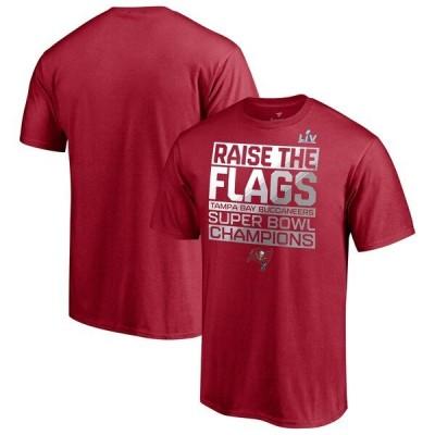NFL Tシャツ バッカニアーズ 第55回スーパーボウル優勝 Parade Celebration レッド メンズ 半袖 tシャツ SB55