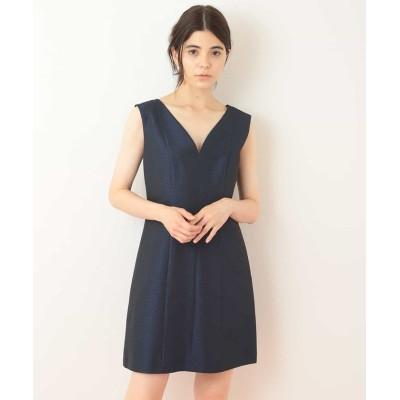 【タラジャーモン】 ハートネックデザインドレス  レディース ネイビー S Tara Jarmon