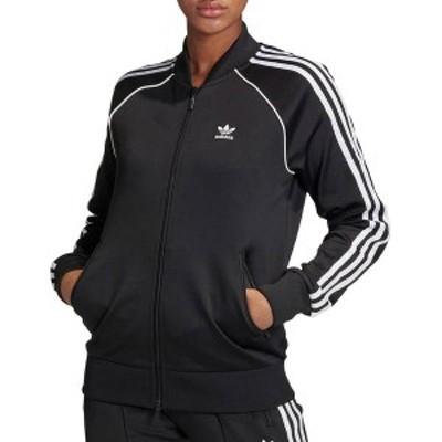 アディダス レディース ジャケット・ブルゾン アウター adidas Women's Prime Blue SST Track Jacket Black/White