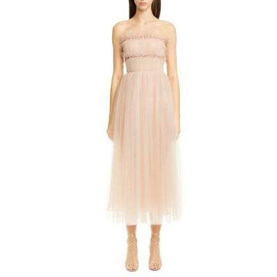 ジェイソン ウーコレクション ワンピース トップス レディース Strapless Ruched Tulle Midi Cocktail Dress Soft Pink
