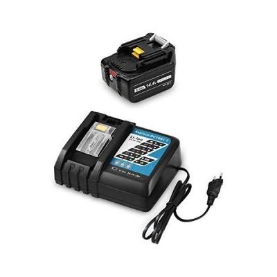 MuniKind 互換 マキタ 14.4V バッテリー BL1460B DC18RC(14.4V-18Vバッテリーに対応充電器)7.0Ah 電動工具用リチウムオン