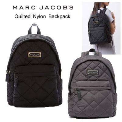 Marc Jacobs マークジェイコブス キルティングナイロン バックパック リュック ブラック グレー 黒 レディース M0011321 正規品・送料無料 US直輸入