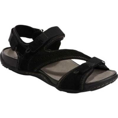 アース レディース サンダル シューズ Sand Nevis Active Sandal Black Nubuck Leather