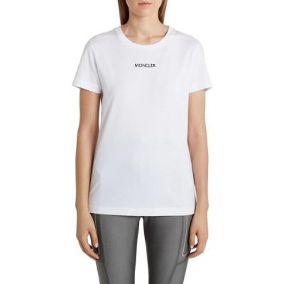 モンクレール MONCLER レディース Tシャツ トップス Logo Embroidered T-Shirt White