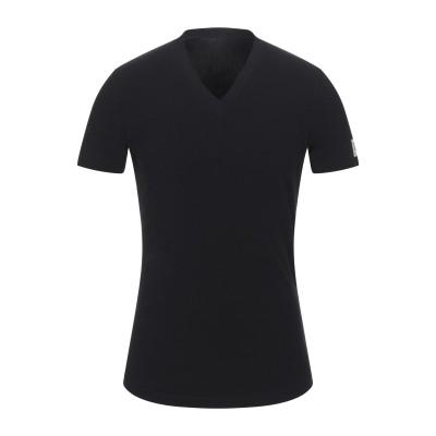 ディースクエアード DSQUARED2 T シャツ ブラック XL コットン 95% / ポリウレタン 5% T シャツ